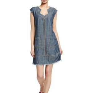 Trina Turk Dresses - Trina Turk Mini Chambray Shirt Dress X-Small Waiki